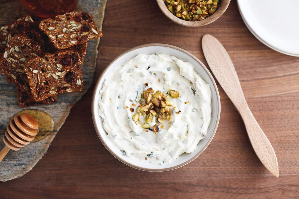 Herbed Ricotta Spread with Pistachios