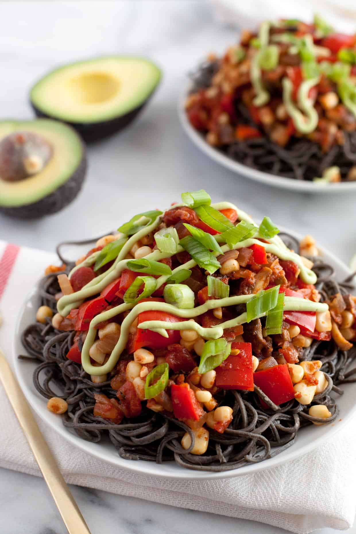 Southwestern Black Bean Spaghetti