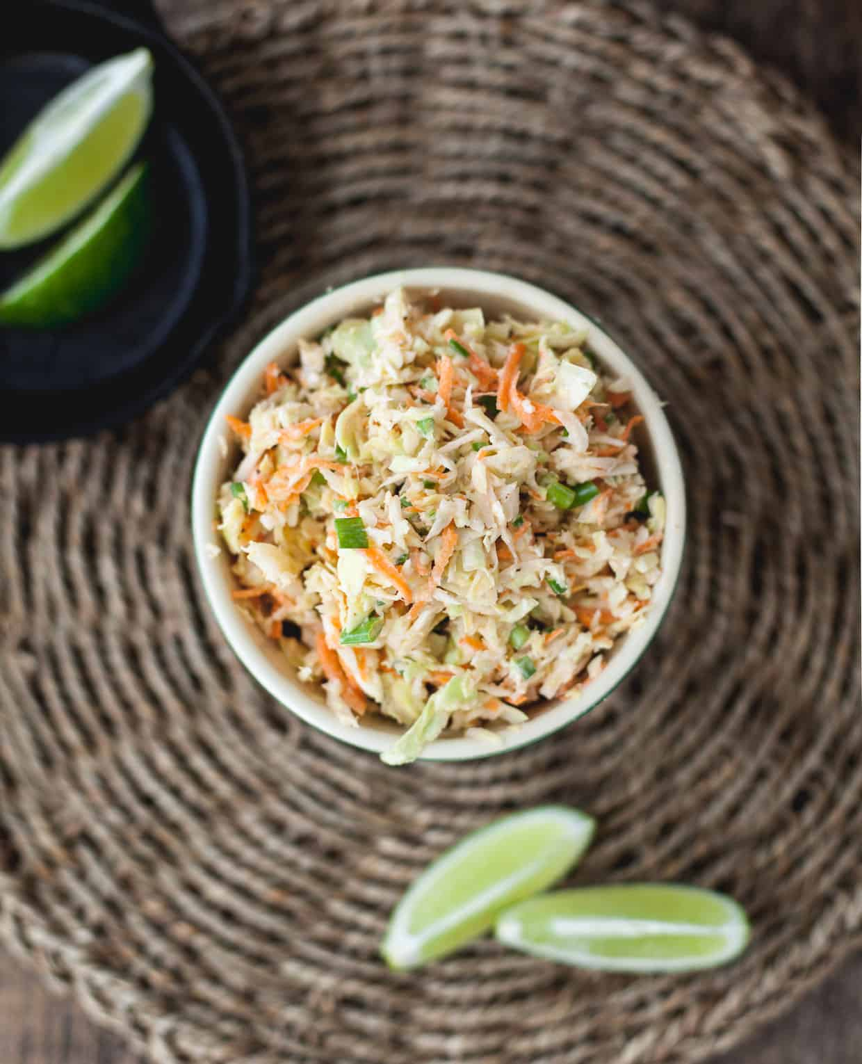 Lime Jalapeno Yogurt Slaw