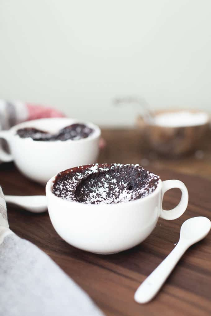 Chocolate Mochi Mug Cake - Snixy Kitchen