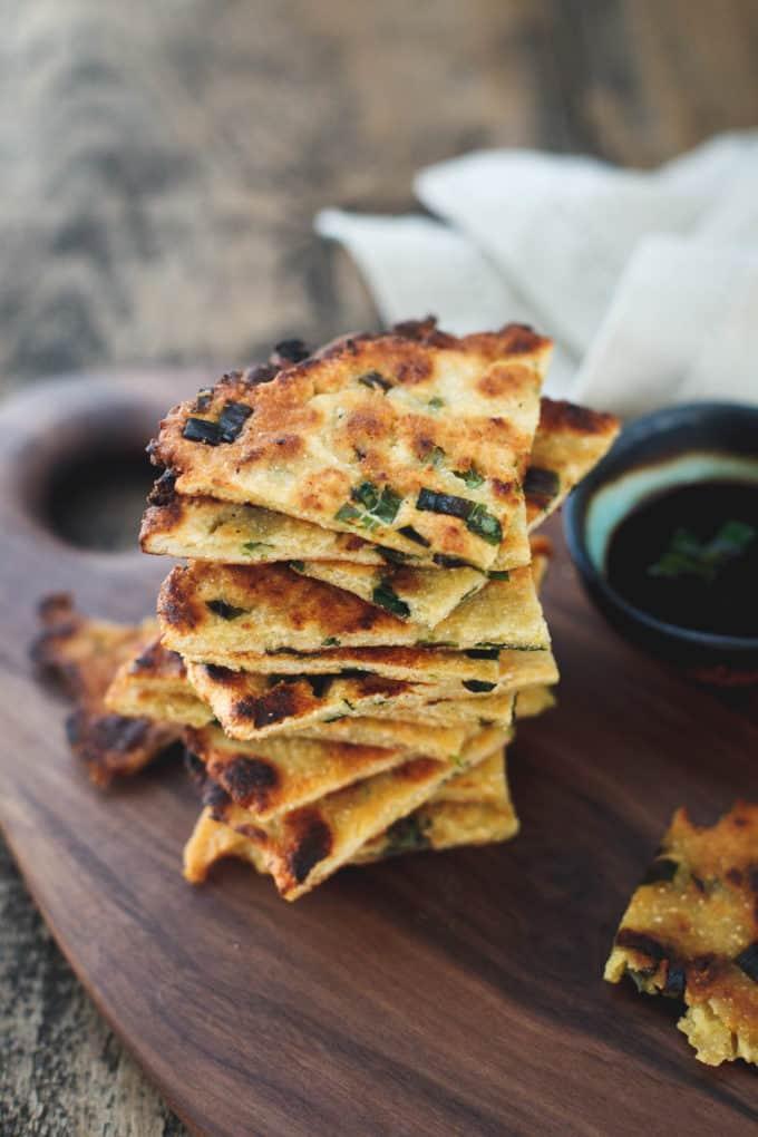 Gluten-free Scallion Pancakes - Snixy Kitchen