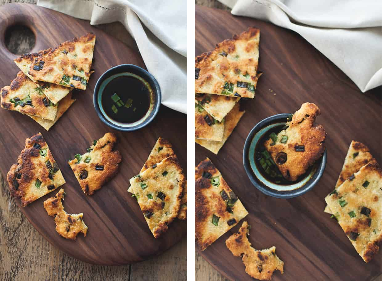 Chickpea Scallion Pancakes - Gluten-free