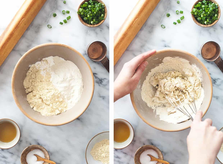 Gluten-Free Scallion Pancakes Prep