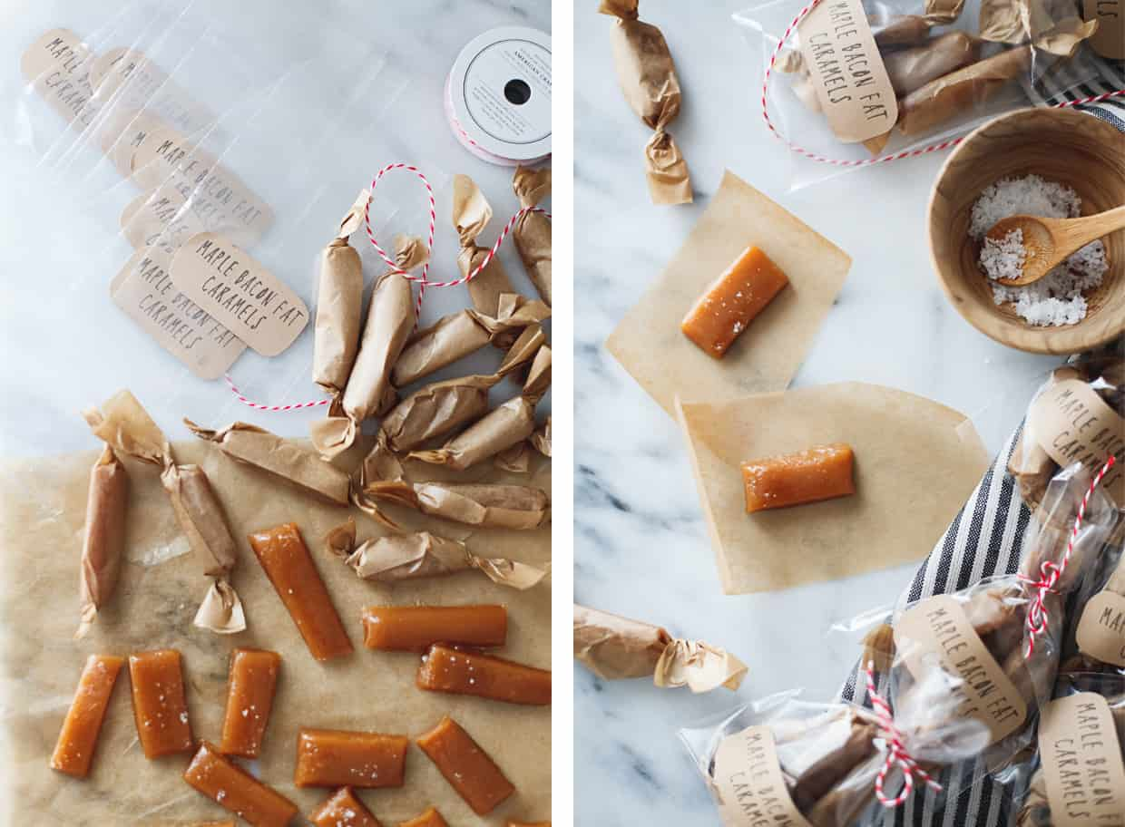 Chewy Maple Bacon Caramels
