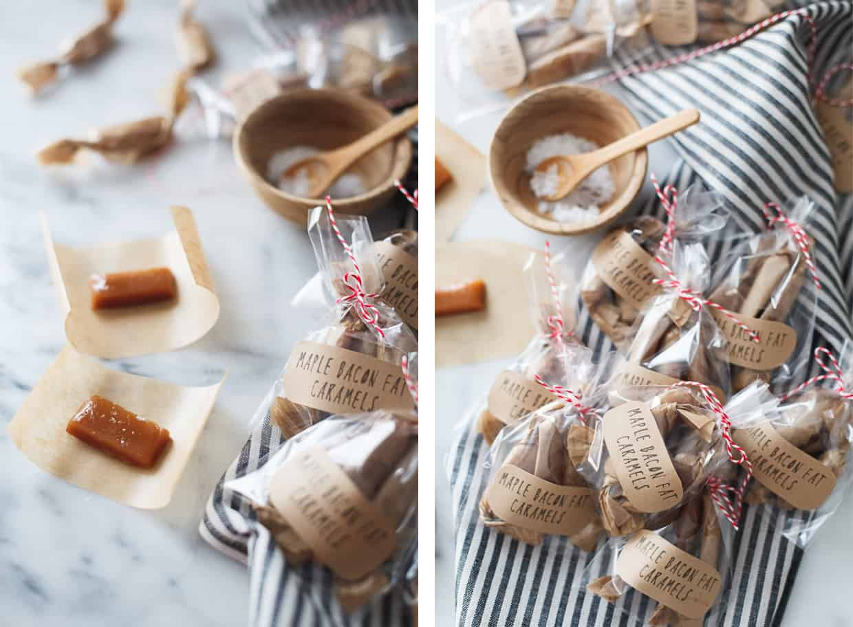 Maple Bacon Fat Caramel Candy