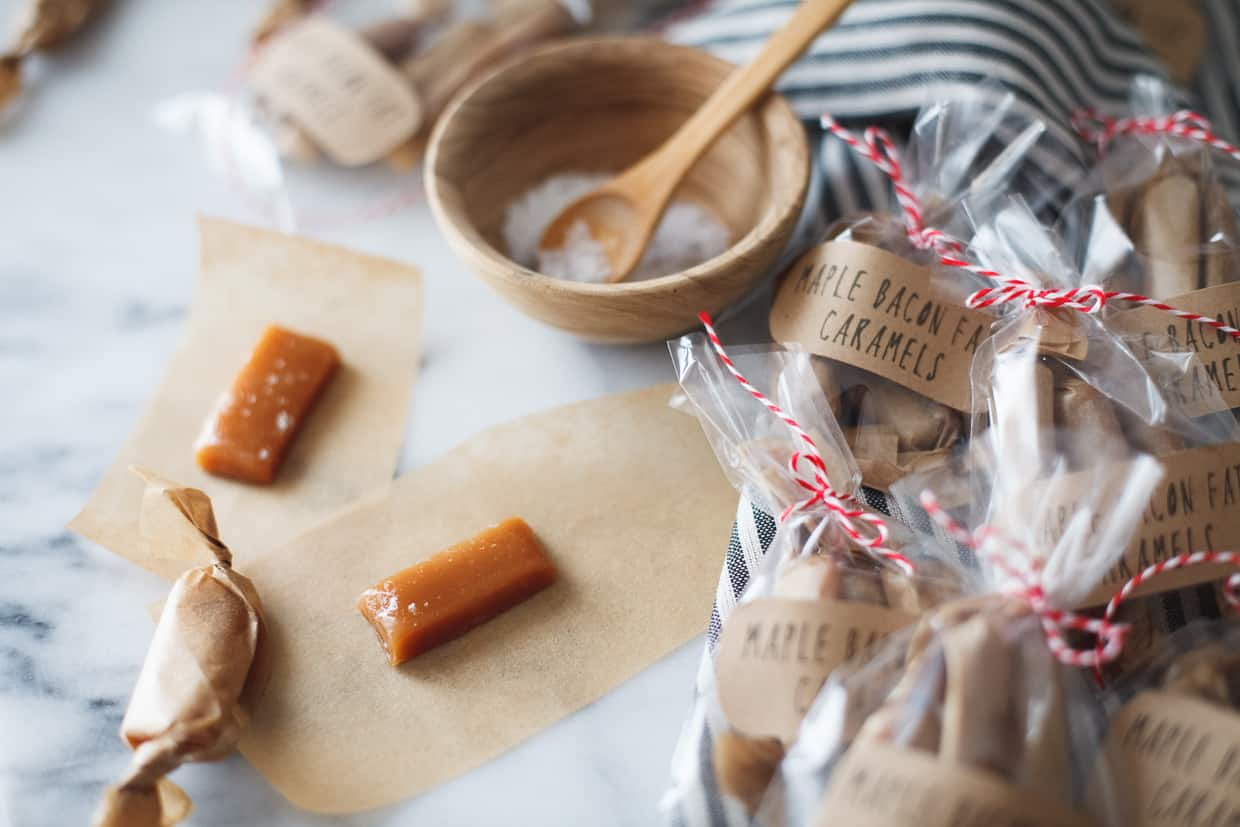 Soft Maple Bacon Fat Caramels