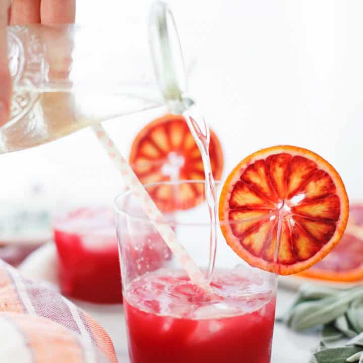 Blood Orange and Sage Sparkling Soda