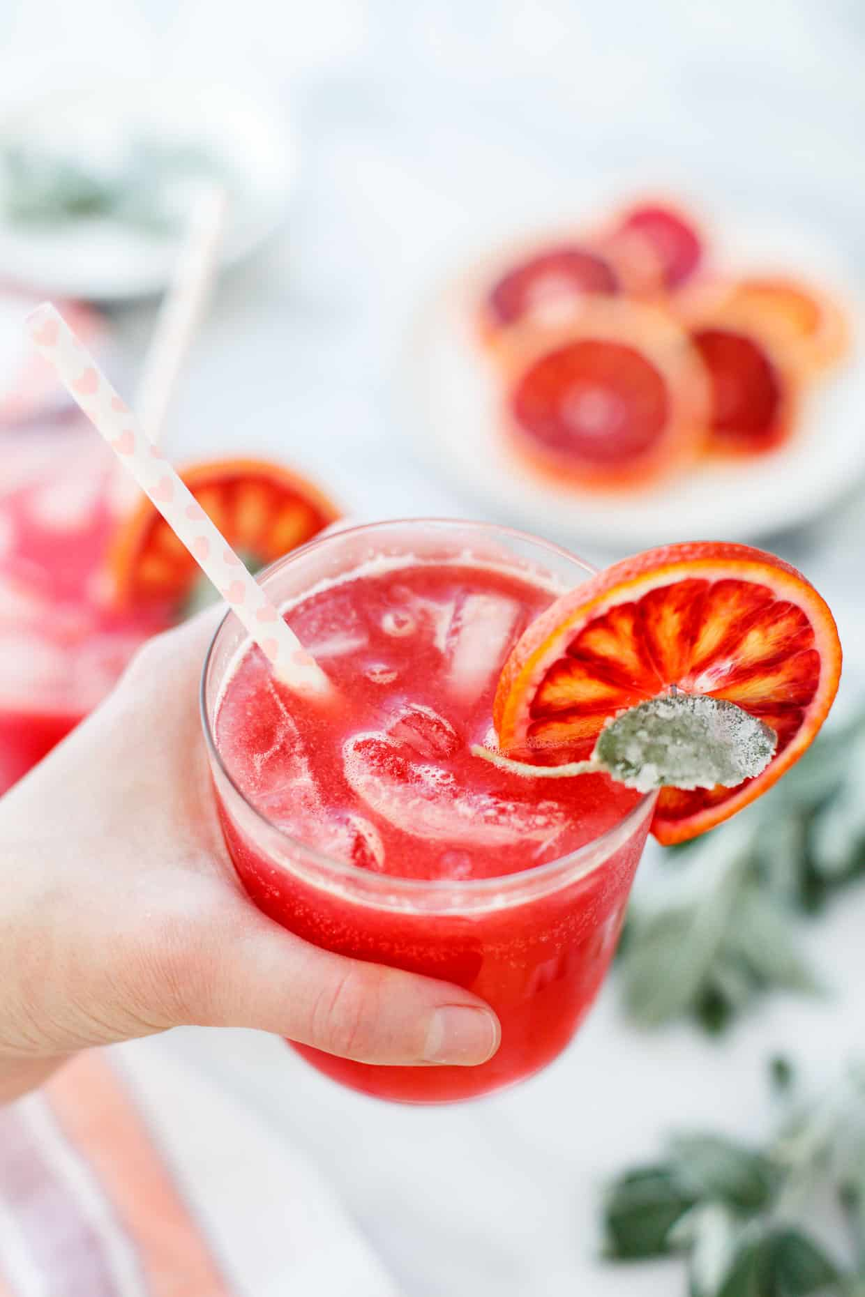 Sparkling Blood Orange & Sage Soda