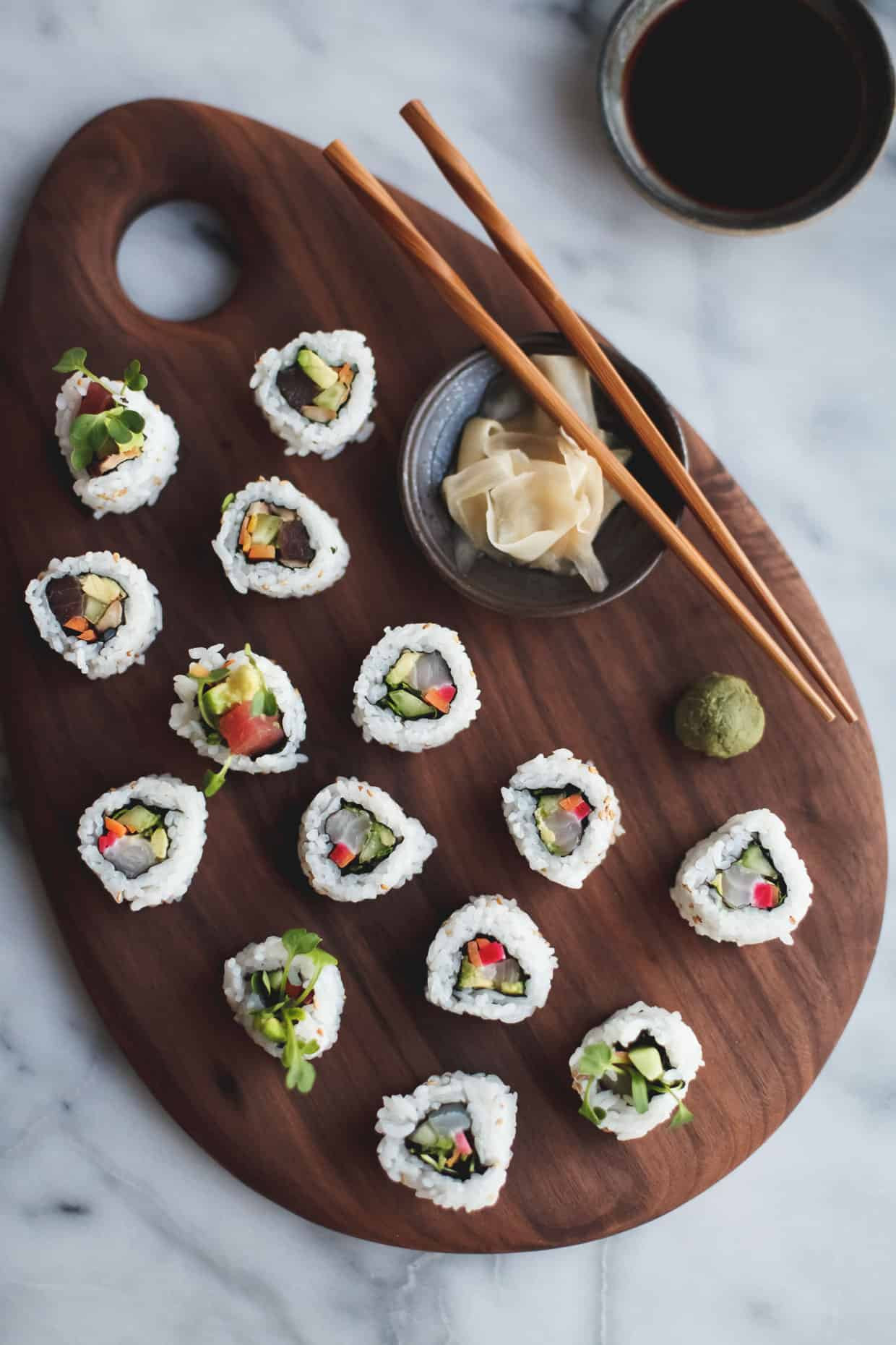 DIY Sushi at Home with a How-to Video - Snixy Kitchen