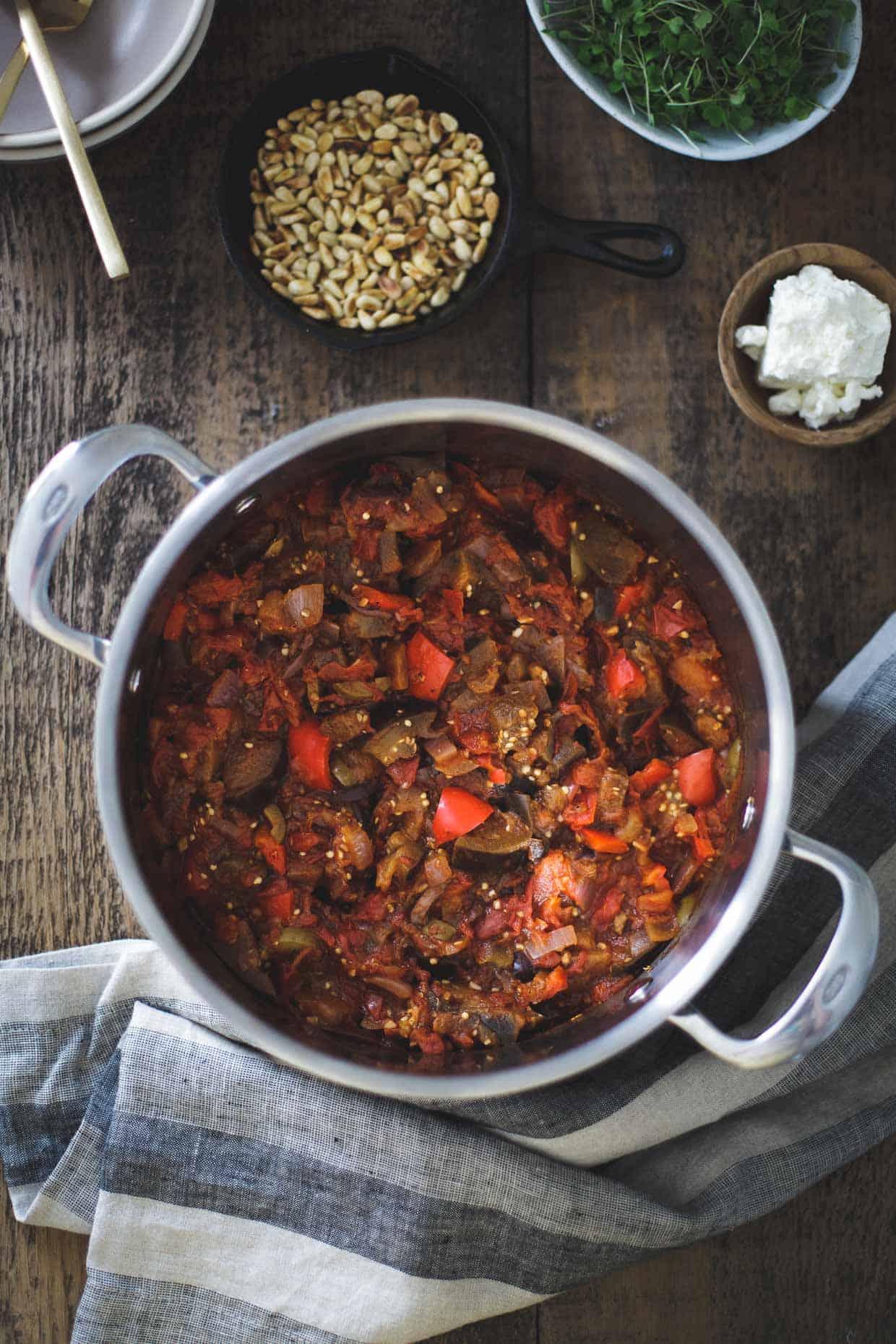 Tomato Eggplant Stew