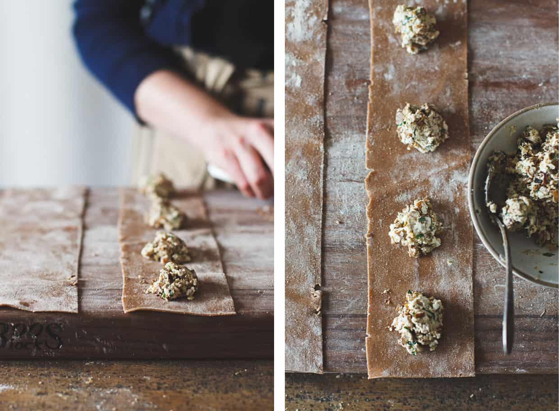 Gluten-Free Chestnut Flour Pasta Ravioli Filling