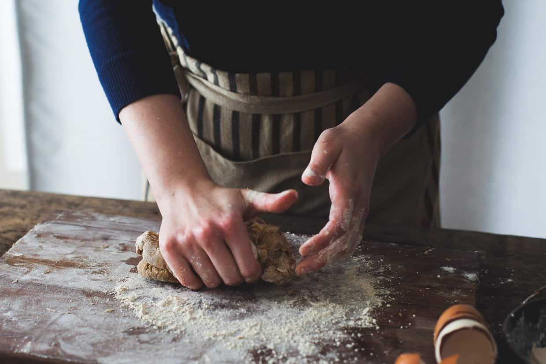 Gluten-Free Chestnut Flour Pasta Kneading