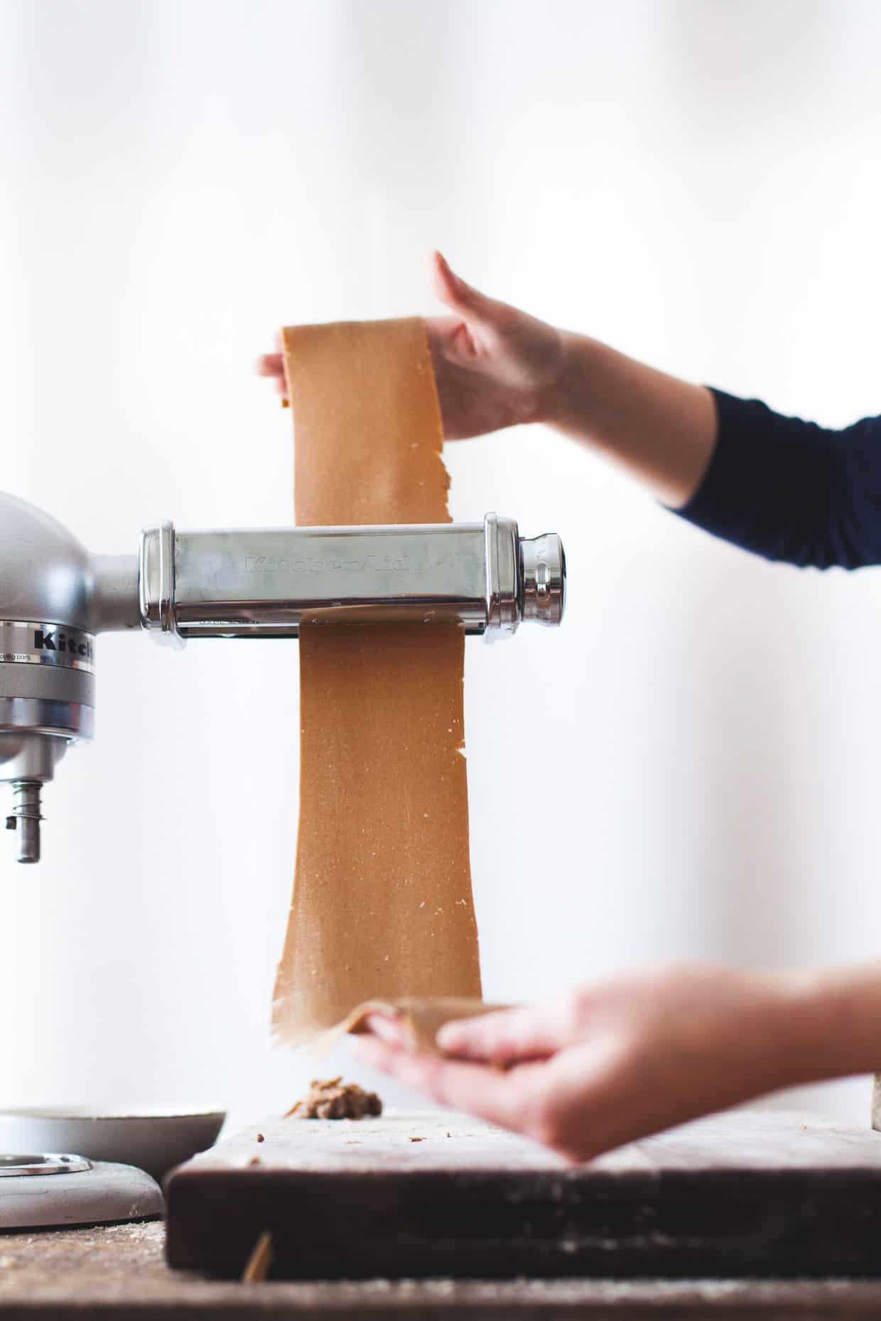 Gluten-Free Chestnut Flour Pasta Rolling