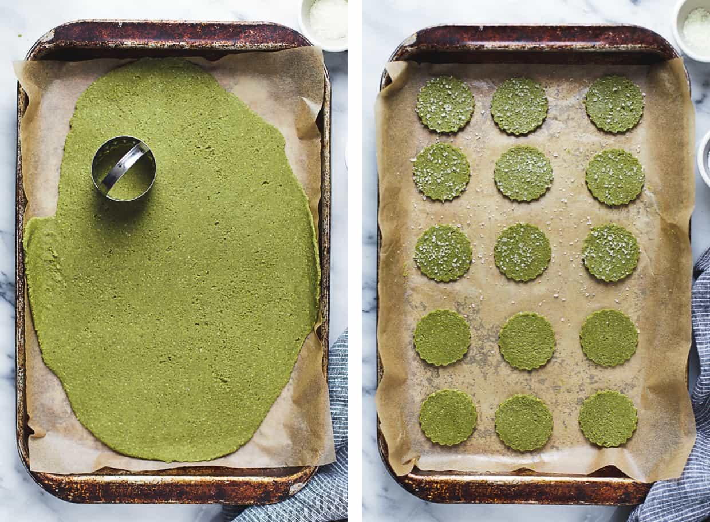 Pumpkin Seed Matcha Shortbread Cookies