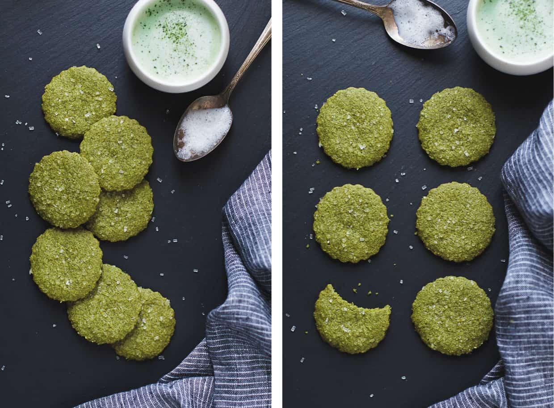 Gluten-free Matcha Shortbread Cookies