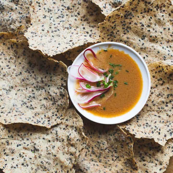 Black Sesame and Wild Rice Crackers - Gluten-free