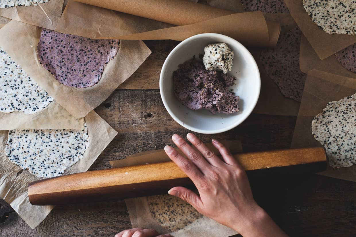Purple Wild Rice Crackers