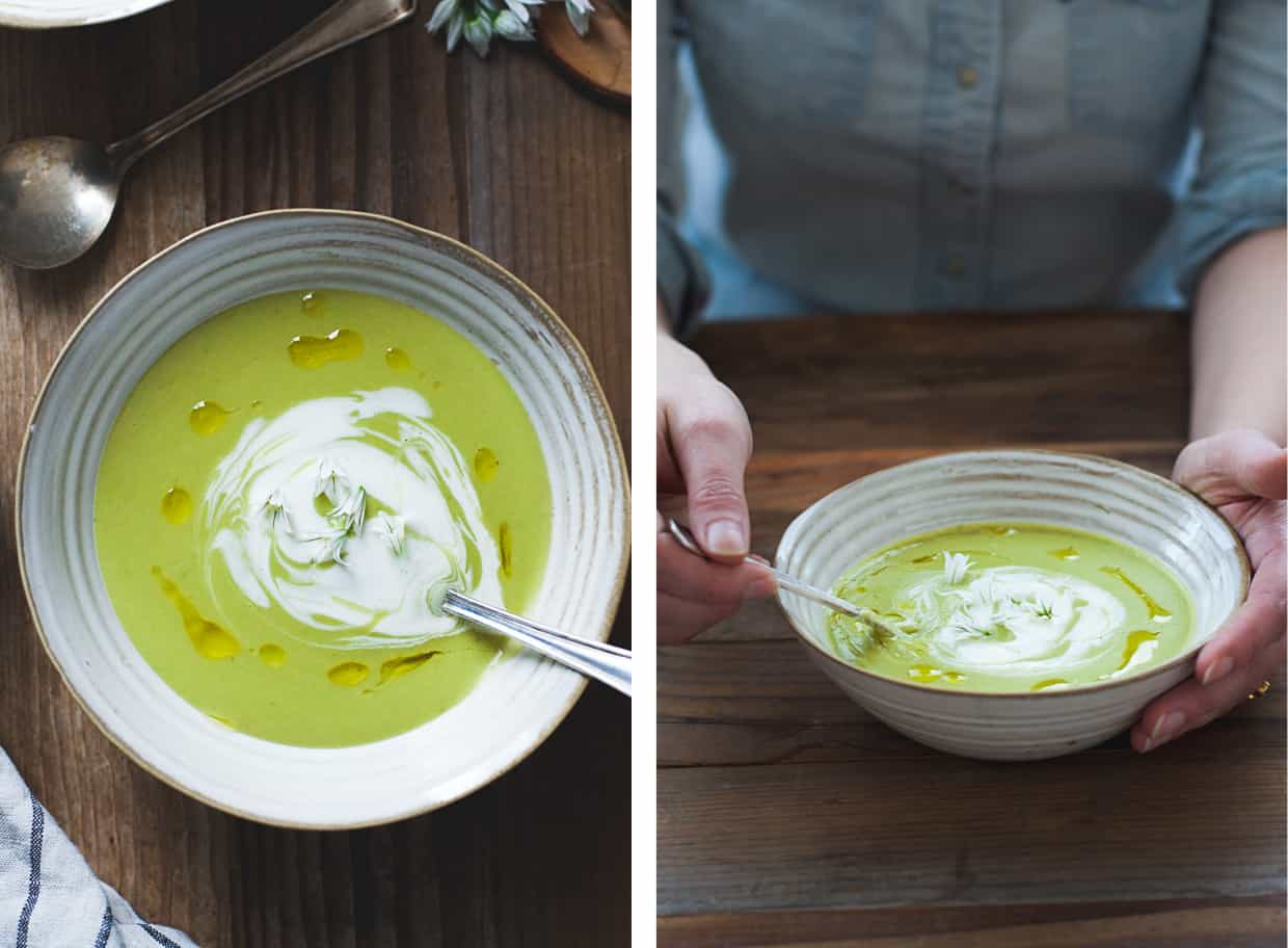Spring Fava Bean Soup with Thyme Olive Oil