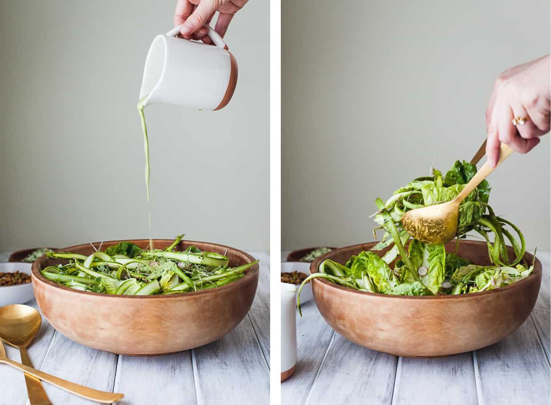 Little Gem Spring Salad with Toasted Seeds