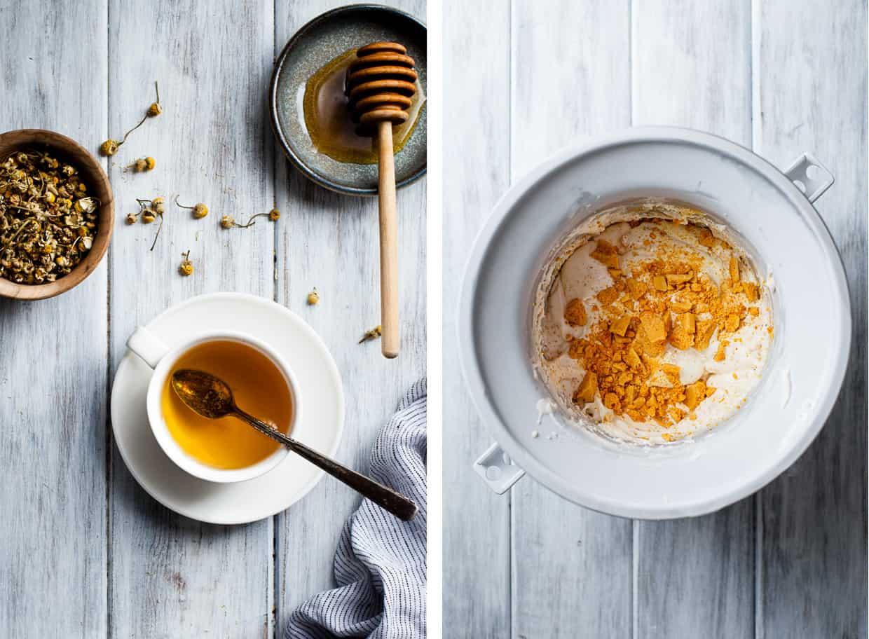 Chamomile Honeycomb Ice Cream