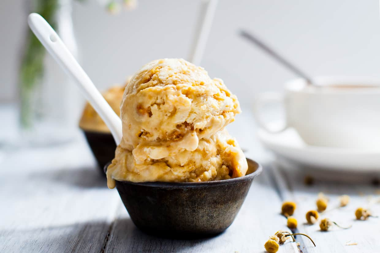 Chamomile Honeycomb Ice Cream