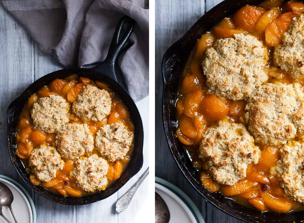 Apricot Cobbler with Buttermilk Biscuits