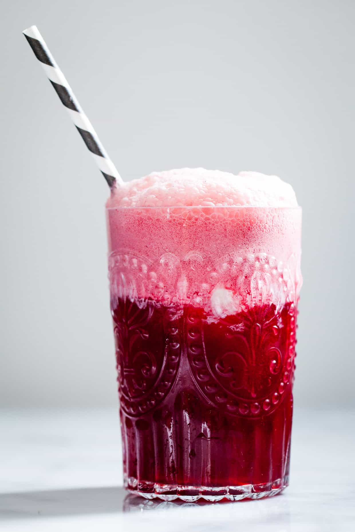 Hibiscus Ginger Ice Cream Float