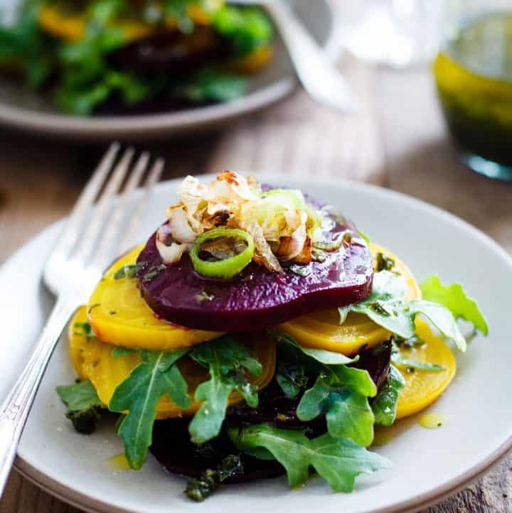 Roasted Beet Salad with Infused Olive Oil