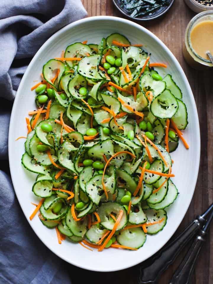 Sesame Ginger Miso Cucumber Salad