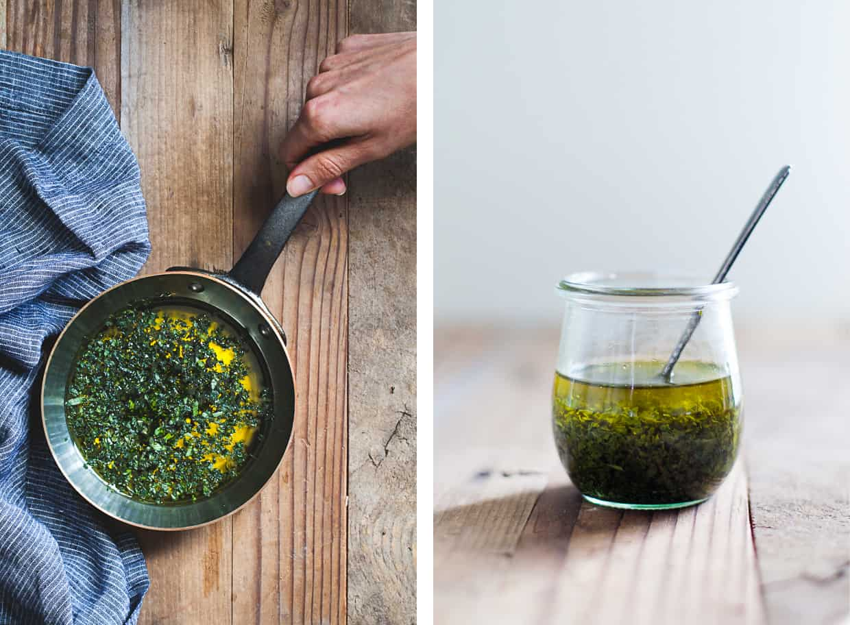 Tarragon Basil Infused Olive Oil