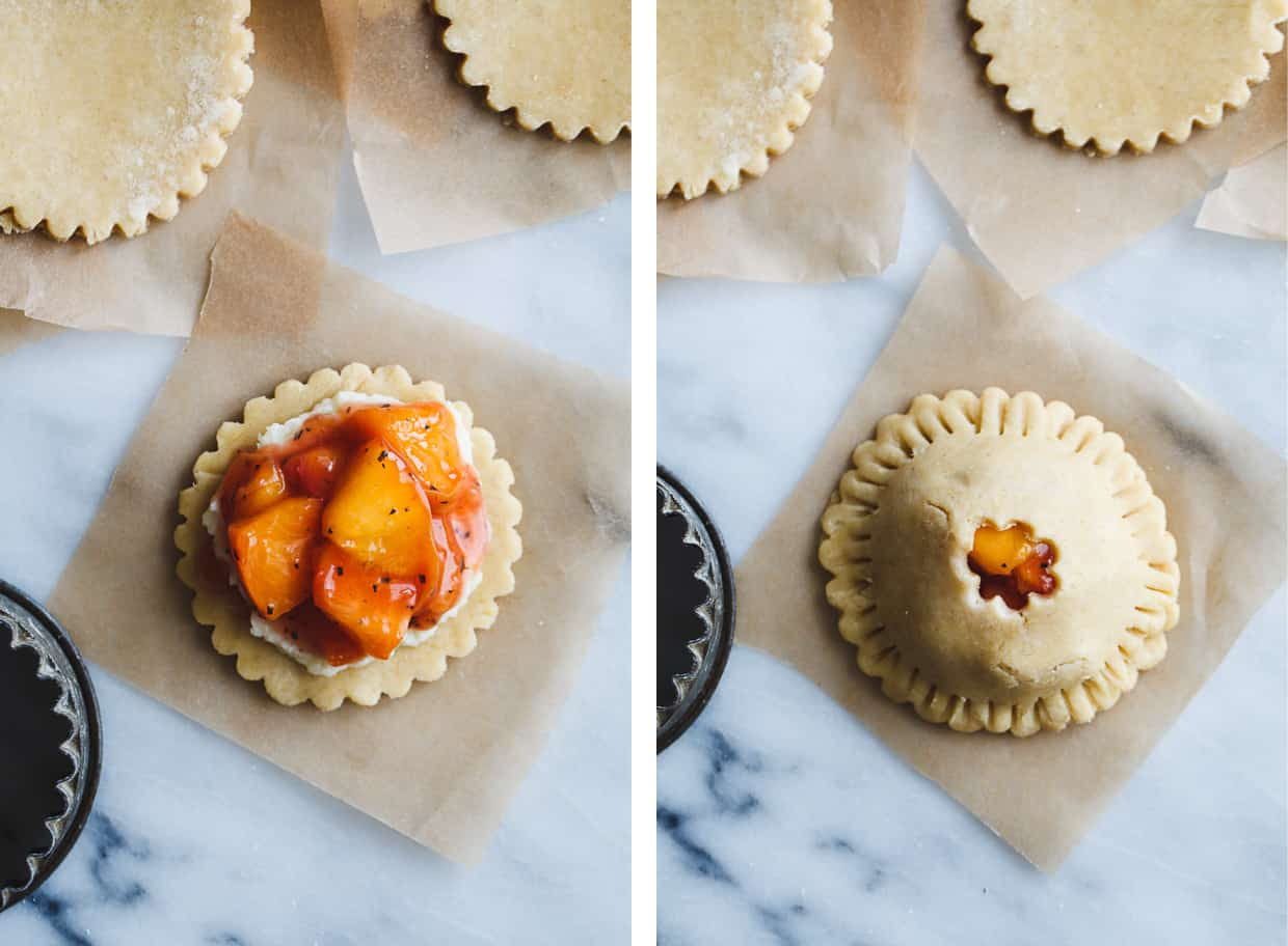 Rosemary Peach Hand Pies with White Chocolate Mascarpone