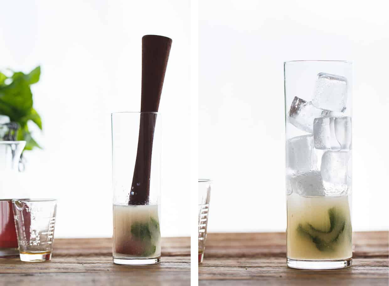 Sparkling Asian Pear and Mint Iced Tea