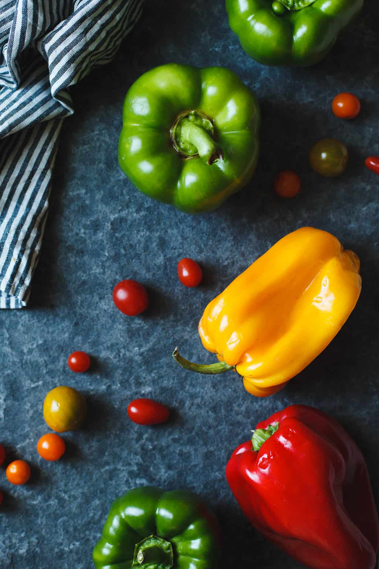 Bell Pepper and Heirloom Tomatoes
