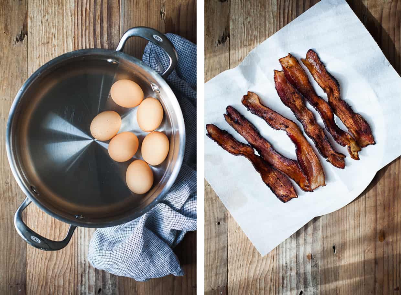 Hard Boiled Eggs & Bacon