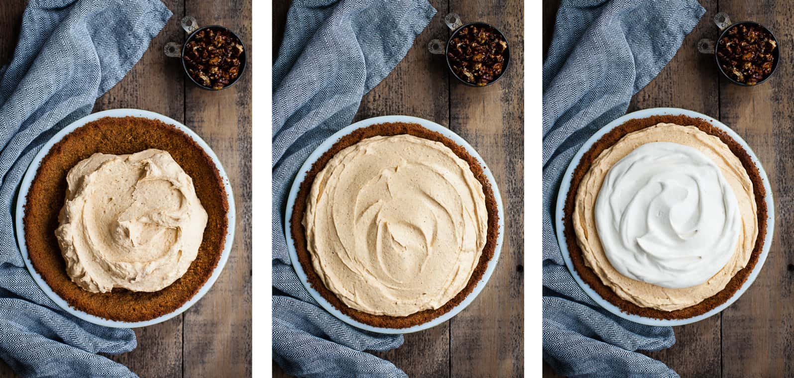 Almost No-Bake Pumpkin Cheesecake Mousse Pie