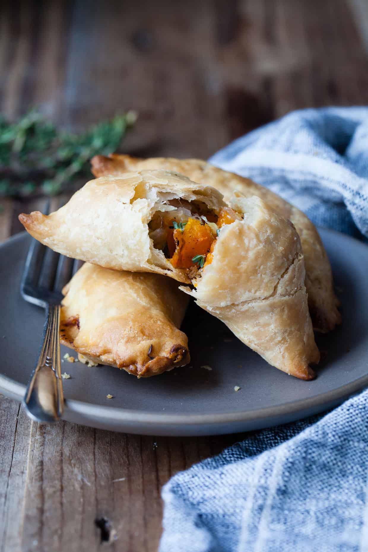 Gluten-free Kabocha Empanadas with Gruyère & Thyme