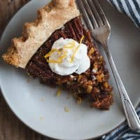 Salted Sorghum Molasses Pecan Pie with Orange Zest