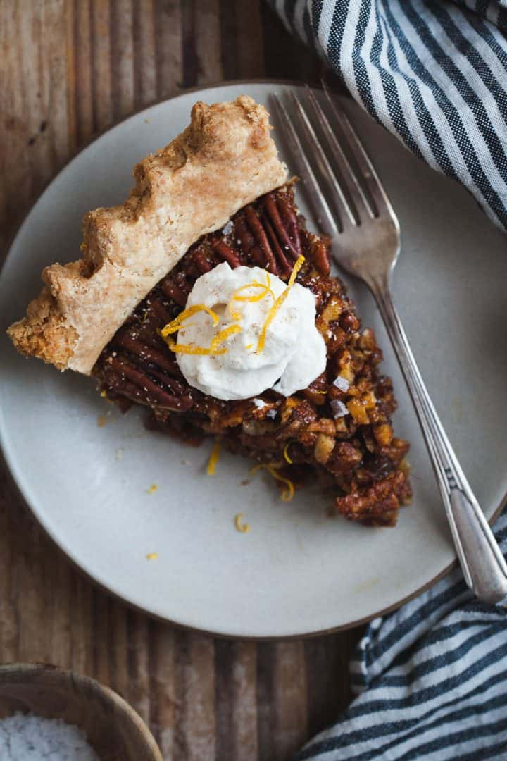 Salted Sorghum Molasses Pecan Pie