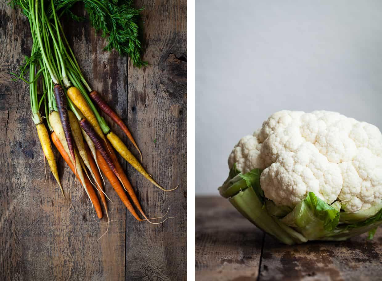 Rainbow Carrots & Cauliflower