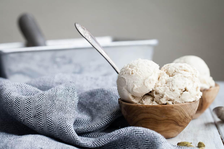 Vegan Cardamom Ice Cream