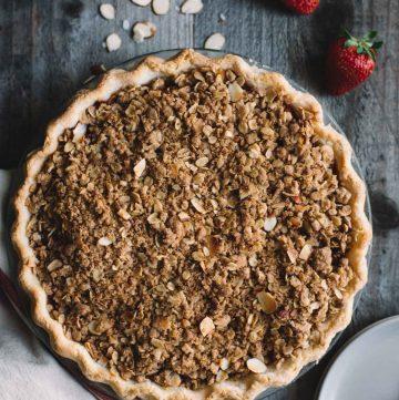 Gluten-Free Strawberry Rhubarb Pie