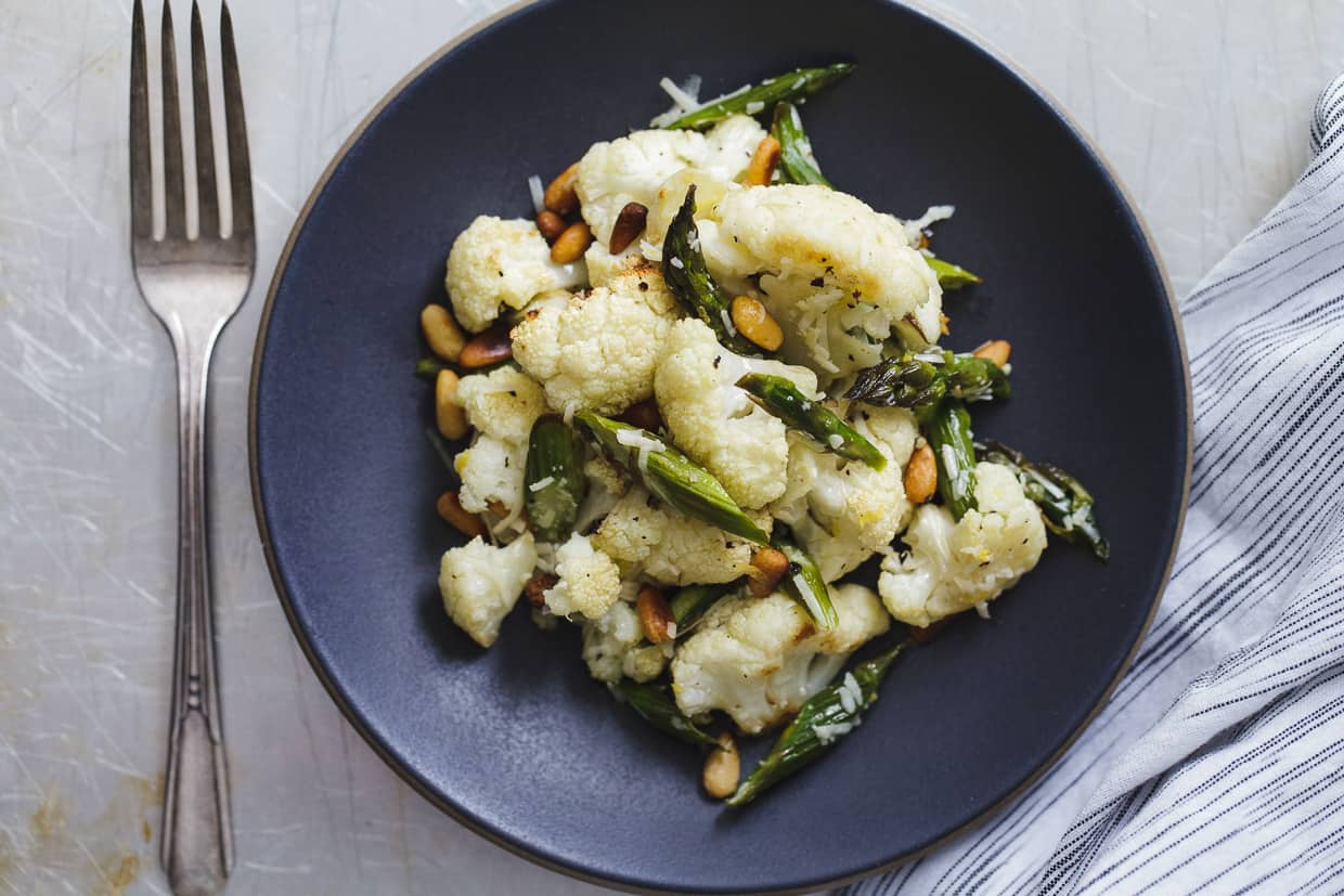Roasted Asparagus and Cauliflower Salad