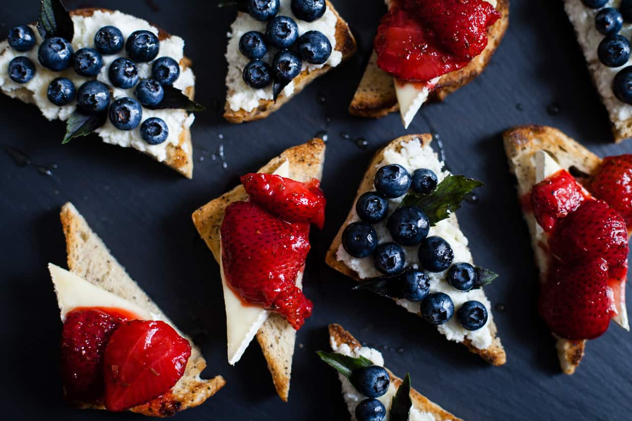 Berry, Herb, & Cheese Toasts
