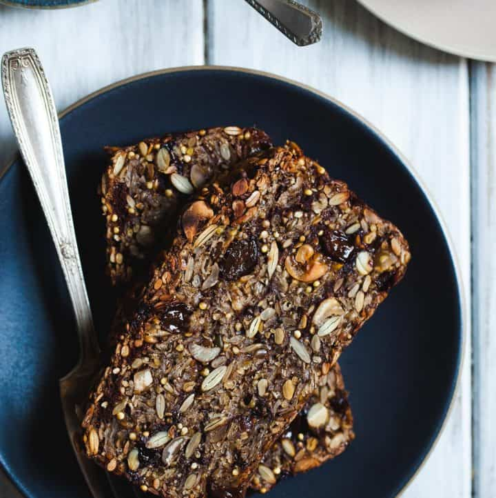 Cinnamon Raisin Seed & Nut Bread (Gluten-free & Vegan)