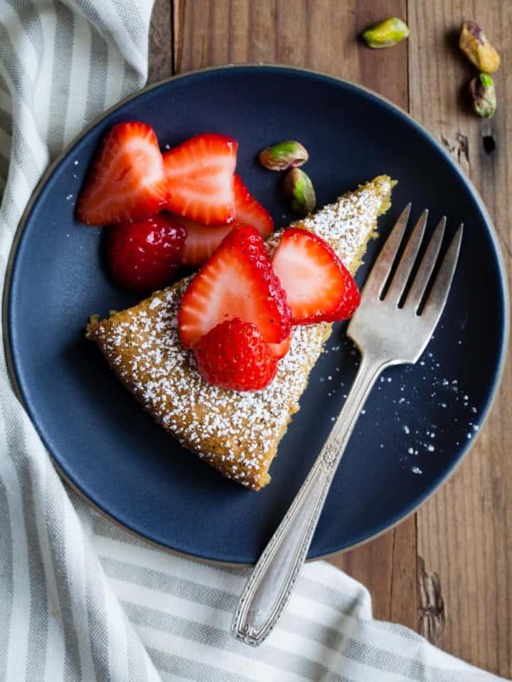 Gluten-Free Pistachio Rose Water Cake