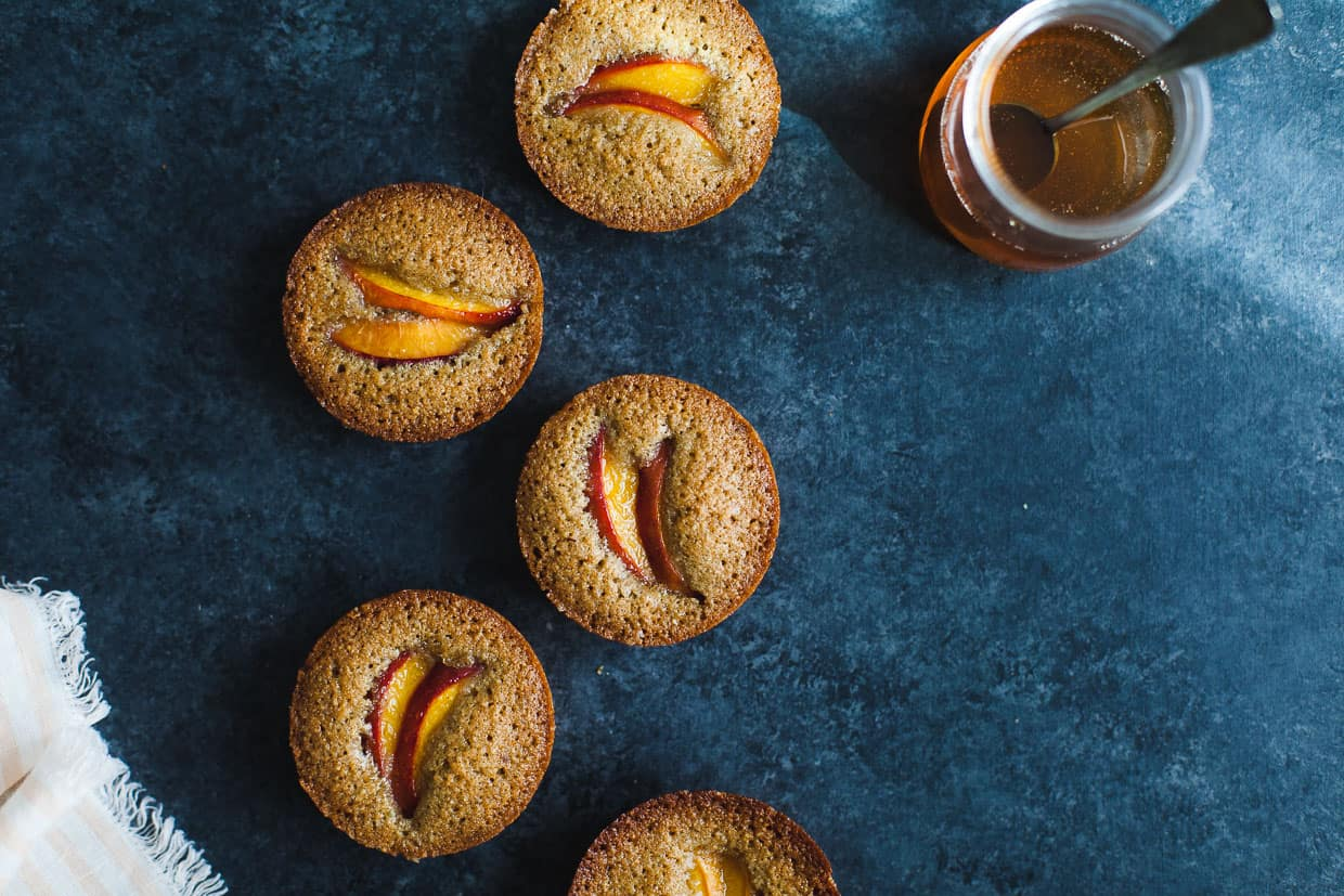 Pepita Financiers with Nectarines {gluten-free & nut-free}