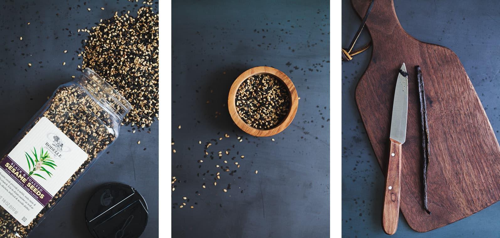 Rodelle Black Sesame Seeds and Vanilla Bean