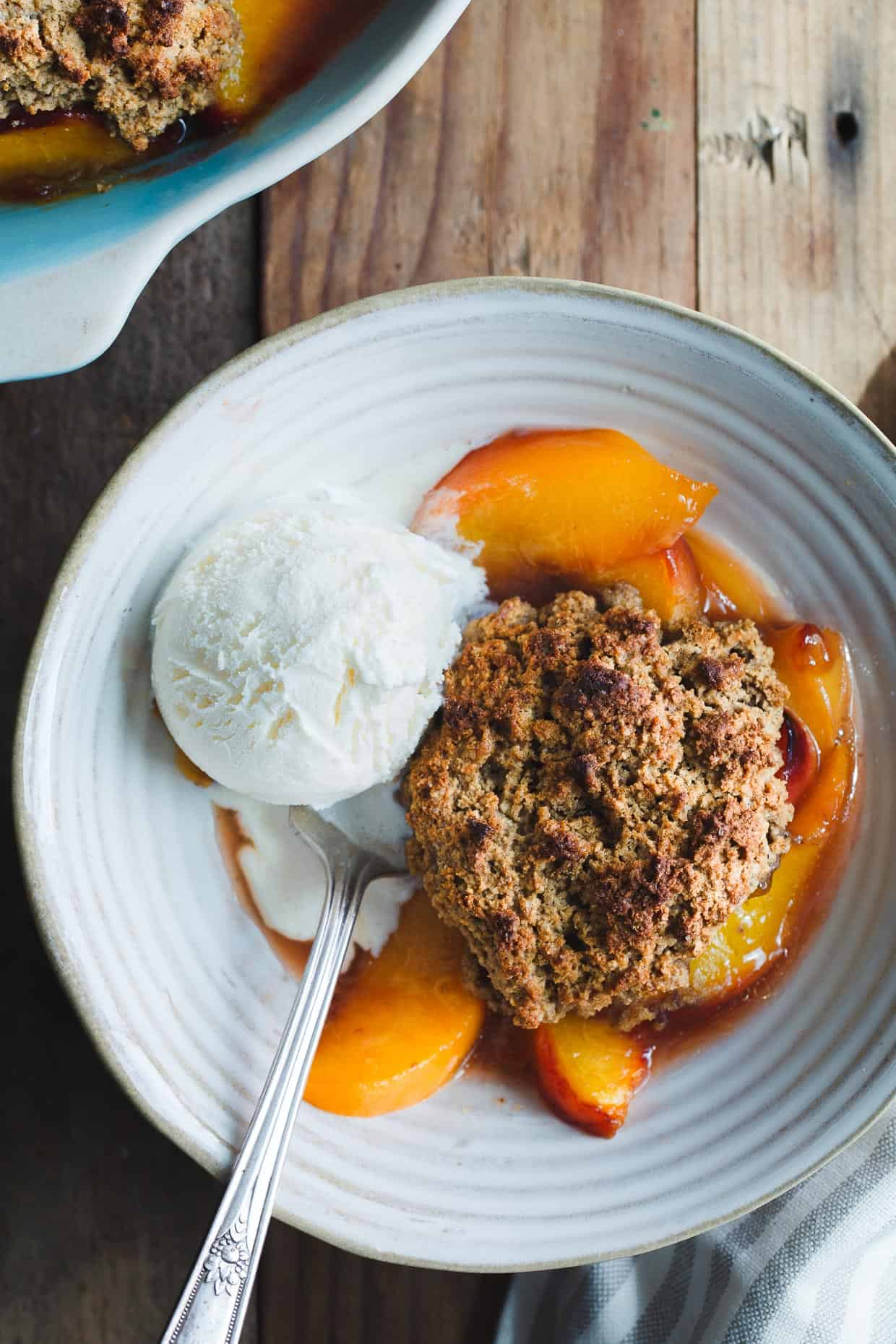 Gluten-Free-Peach-Cobbler-Brown-Butter-Chestnut-Biscuits-5