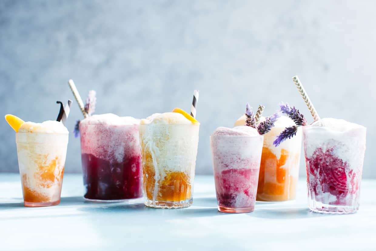 Lavender Earl Grey Blackberry Ice Cream Floats