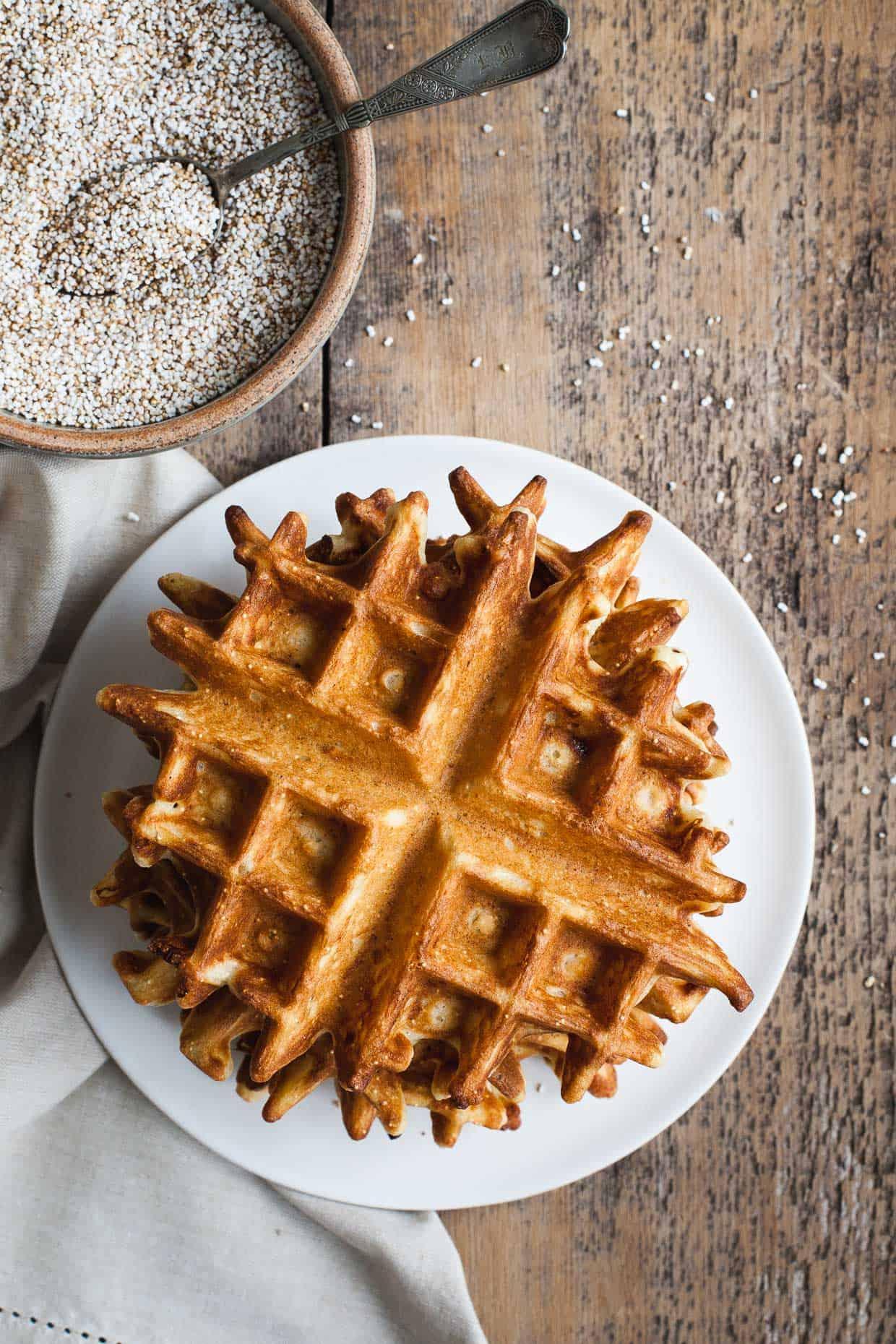 Gluten-free Savory Amaranth Waffles